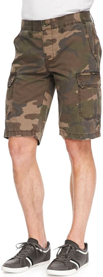 $78, Olive Camouflage Shorts: Rag and Bone Rag Bone Camo Print Ripstop Shorts Green. Sold by Neiman Marcus. Click for more info: https://lookastic.com/men/shop_items/51939/redirect