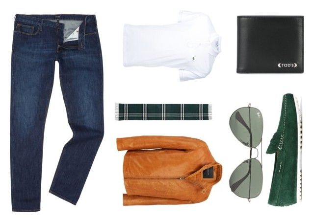 """""""Ol' man"""" by thelomthethwa on Polyvore featuring Armani Jeans, Tod's, Lacoste, Andrew Marc, Burberry, Ray-Ban, men's fashion and menswear"""
