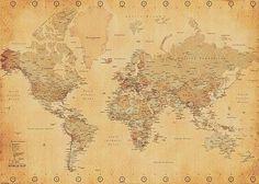 Poster XXL Mappemonde (Carte du monde) Posters XXL - Close Up GmbH