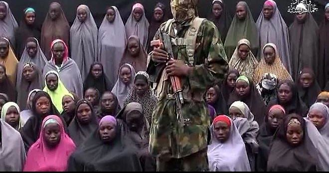 Boko Haram yesterday released the video of five commanders that were reportedly released by Nigerian authorities on Saturday May 6 in exchange for 82 Chibok schools girls.  All the five insurgents shown in the six minutes 30 seconds video dressed in full military fatigues alighted from a Hilux vehicle mounted with a machine gun.  The man claimed  he was Abu Dardaa saying he was arrested by Nigerian security forces in Gombe State taken into custody alongside many of his brethren but set free for
