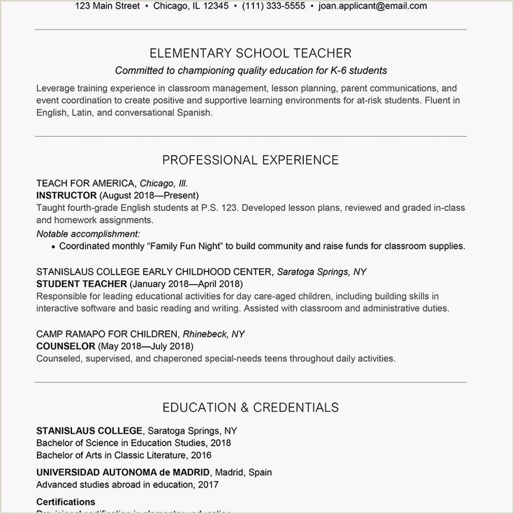 Pre K Teacher Resume Sample in 2020 Teacher resume