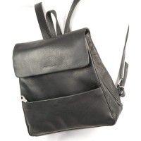 Harolds – Mittel-Großer Lederrucksack / Rucksack Handtasche aus Leder, Schwarz, Modell 445125 kaufen