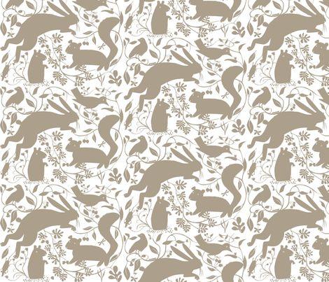 Woodland_grey fabric by antoniamanda on Spoonflower - custom fabric