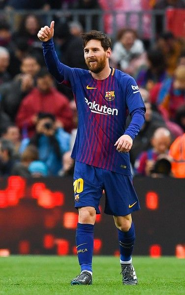 Lionel Messi of FC Barcelona celebrates after scoring the opening goal  during the La Liga match between Barcelona and Atletico Madrid at Camp Nou  on March 4 ... a4f4398de0cac
