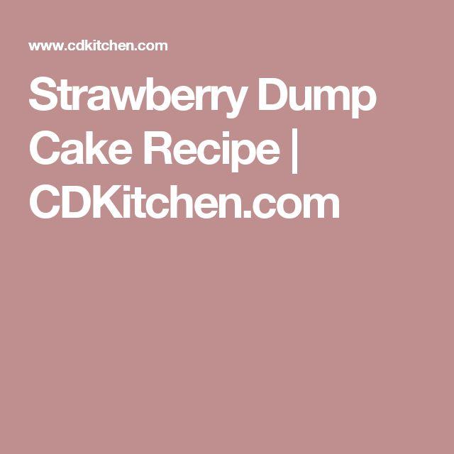 Strawberry Dump Cake Recipe | CDKitchen.com