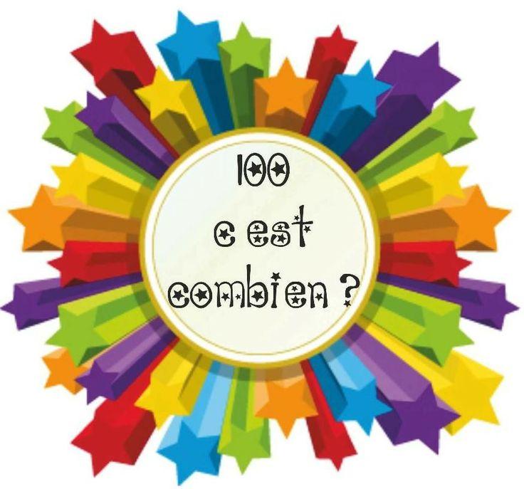 Chaque jour compte - 100ème jour : étiquette pour affiche