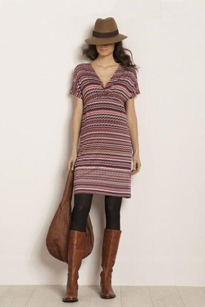 Robe de grossesse mode: Vertbaudet imprimé - EN IMAGES. Dix robes de grossesse pour passer l'hiver avec style - L'EXPRESS