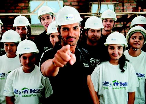 John Abraham India Habitat For Humanity Celebrity Sightings