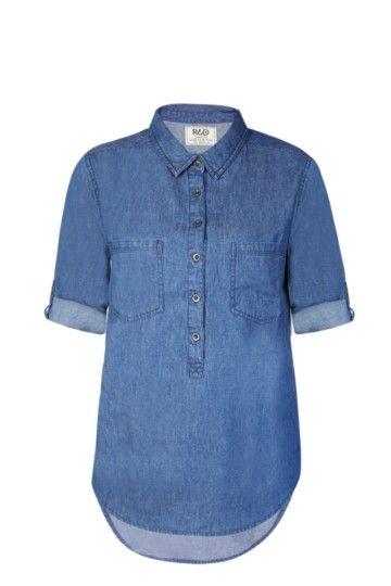 Denim Henley Shirt