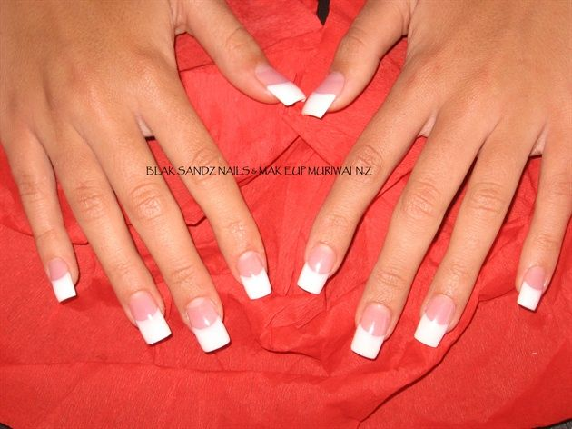 Classic Long French by BlakSandz - Nail Art Gallery nailartgallery.nailsmag.com by Nails Magazine www.nailsmag.com #nailart