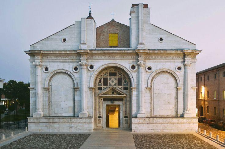Leon Battista, Alberti, tempio malatestiano, dal 1450, Rimini