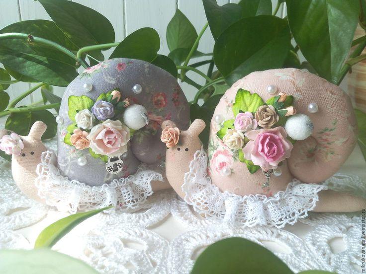 Купить Тильда улиточки..... - кремовый, тильда, улитка, улитка Тильда, цветы, украшение для интерьера, улиточка