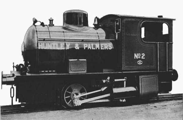 A small 0-4-0 locomotive used by  Huntly and Palmers, a famous firm of biscuit makers in England.