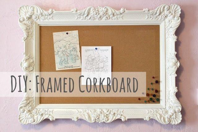 Diy: Framed Corkboard, Multipurpose Wall Decor
