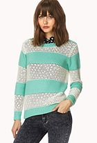 Open-Knit Striped Sweater #ForeverHoliday