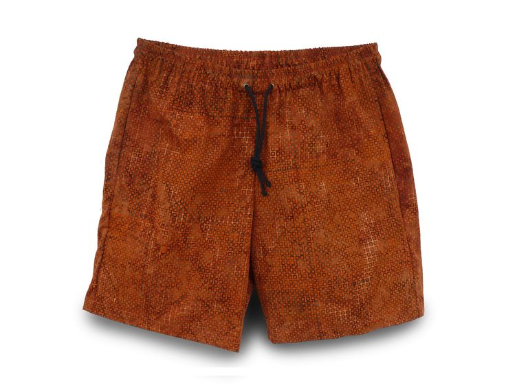 Exclusive batik men's shorts by Pelangi Design. 2 deep side pockets and 1 buttoned back pocket.