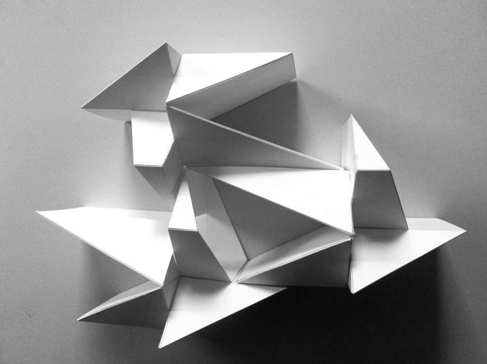 301 best folding images on pinterest architecture for Architecture origami