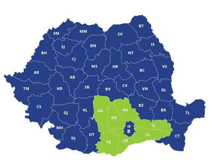 Productivitatea muncii - top producatori regiunea Sud-Muntenia