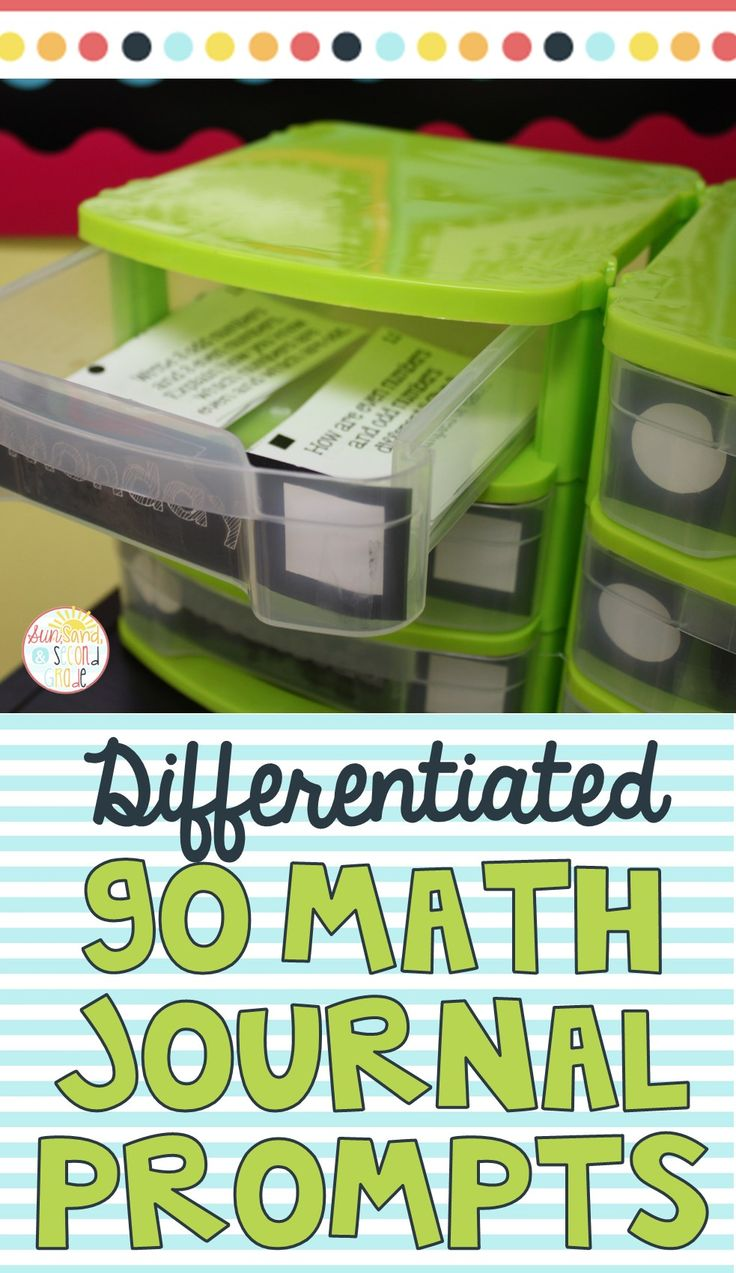 See how this teacher differentiates her students' math journals with these ready-to-go prompts! They go perfectly with Second Grade Go Math lessons!
