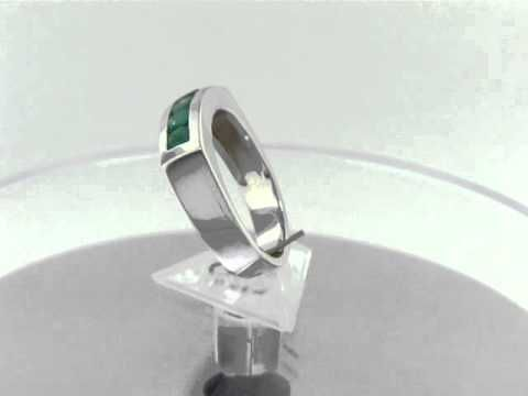 Emerald band ring R-TOS-085 by www.GreenInGold.com