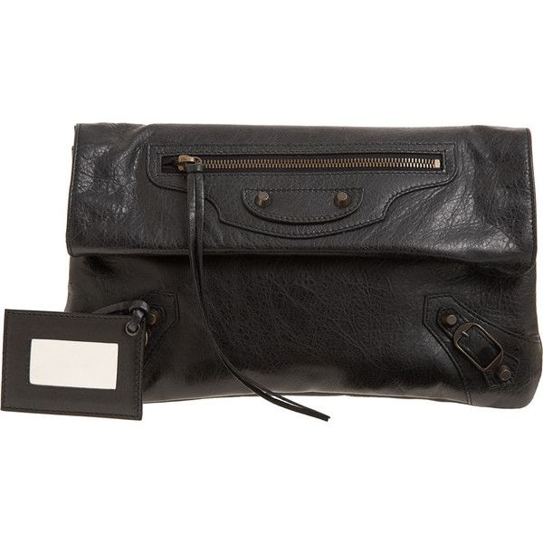 Balenciaga Arena Classic Envelope (€880) ❤ liked on Polyvore featuring bags, handbags, clutches, balenciaga, borse, women, black clutches, black handbags, lambskin handbag and balenciaga handbags
