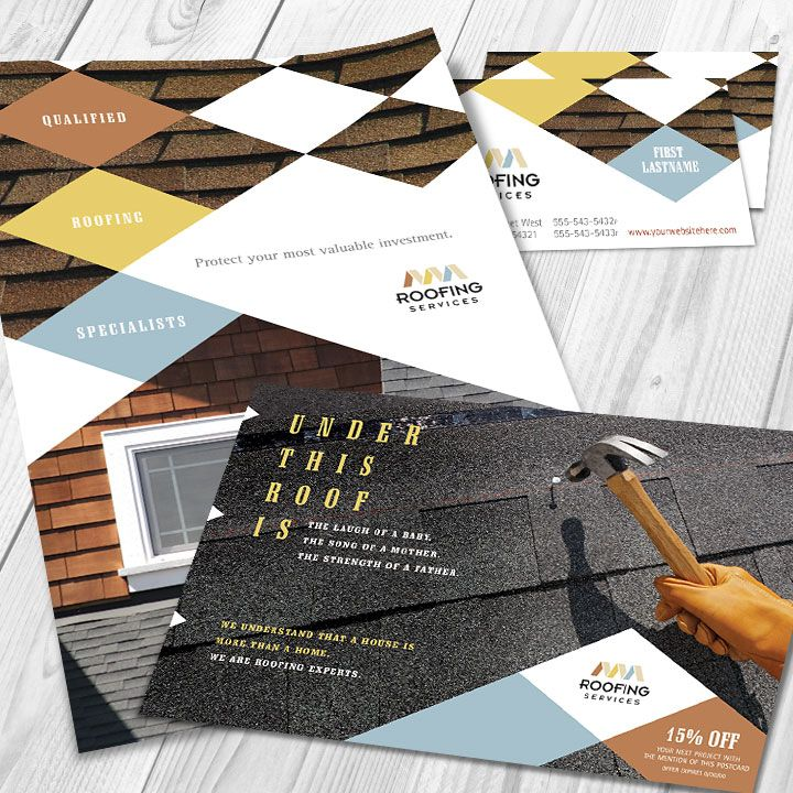 Graphic Designs For A Roofing Company By StockLayouts
