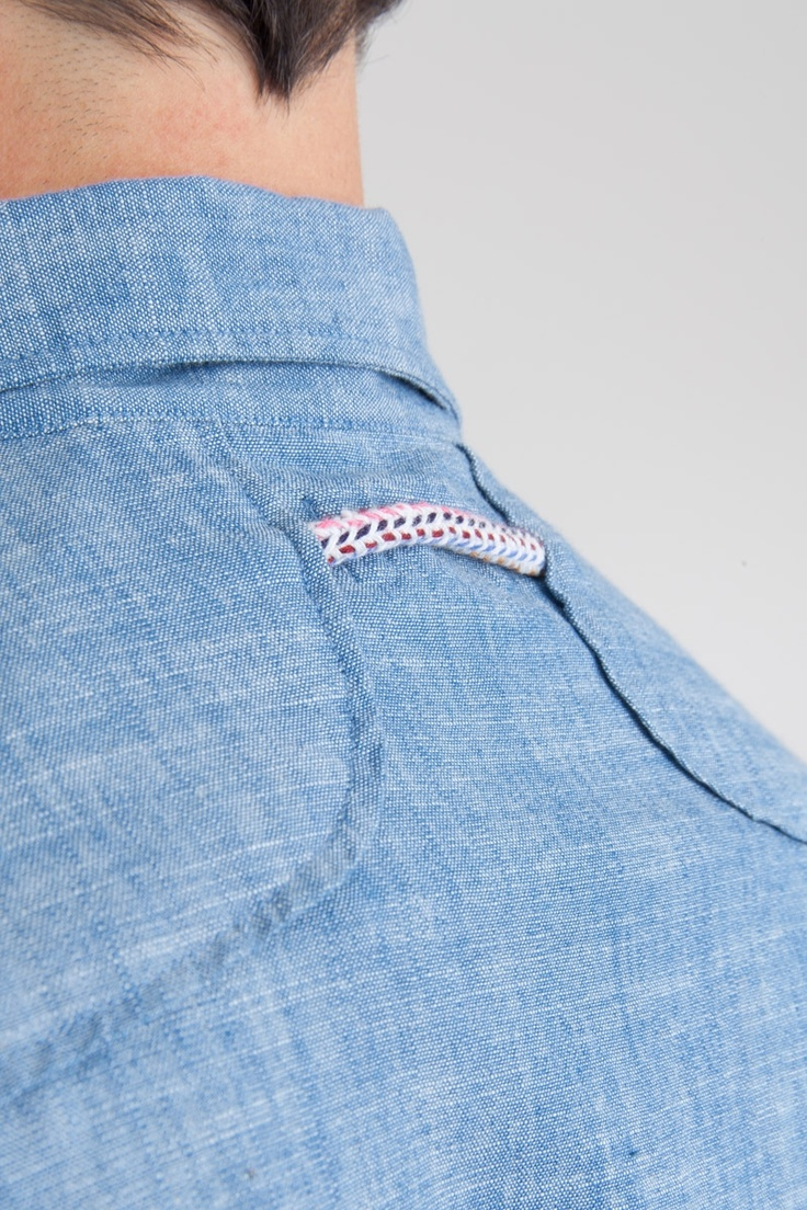 Multiple Drawcord Shirt - Chambray | Shirting Little details that make the clothes bespoke to your brand #uniform