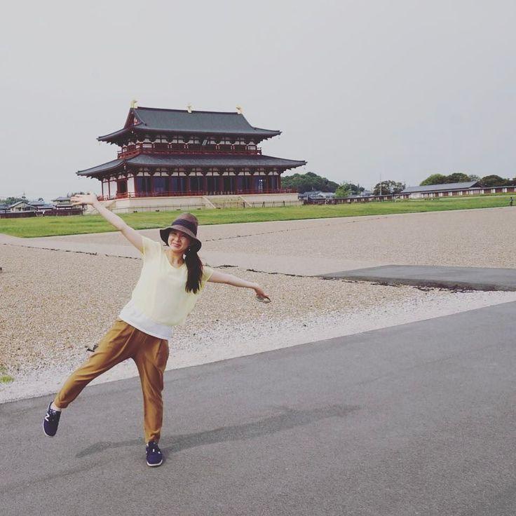 意外に良かったのが平城宮跡感激第一次大極殿は180億朱雀門は40億で再建されたそうです全てが再現されたら絶対にいきたい 広大なので自転車で回りました #奈良 #日本 #nara #japan #japantrip #アトリエ由花 #国内旅行 #平城宮跡 #旅行好きな人と繋がりたい #旅行好き
