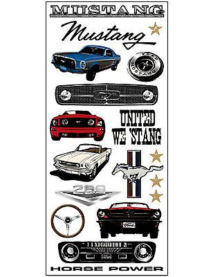 Ford MUSTANG Jumbo Sticker Sheet scrapbooking HORSE POWER