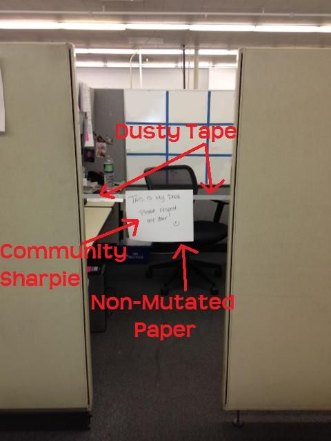How to Create a Cubicle Door... #funny #cubicle #humor | C ...