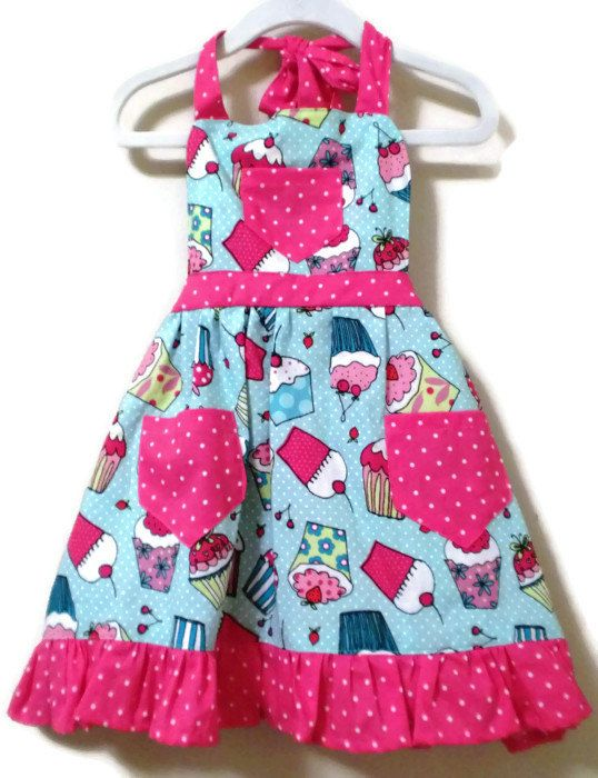 Retro Style Apron Children's Apron Toddler by KelleenKreations, $20.00
