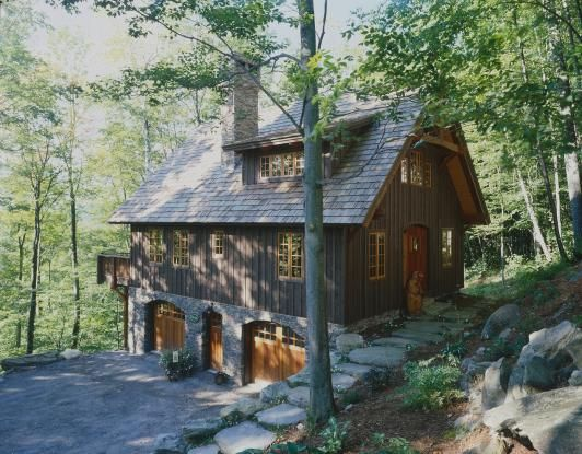 From Yankee Barn Homes: Post and Beam Cottage/carriage house