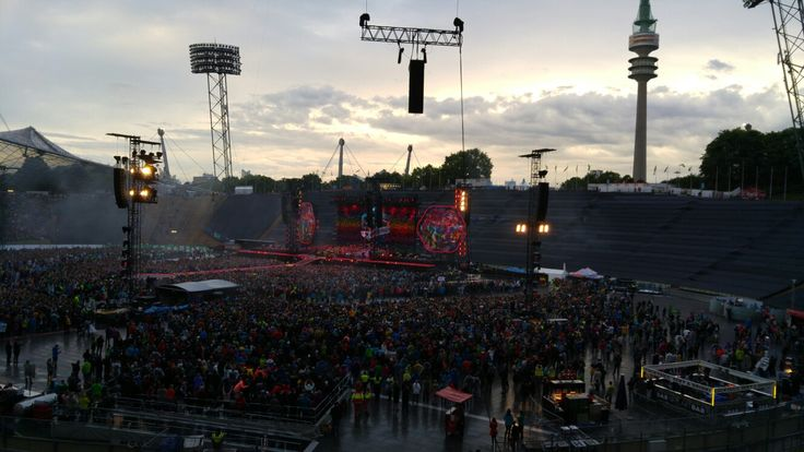 Coldplay tour in Munich 2017