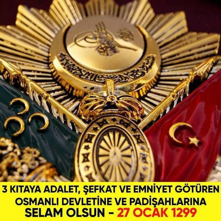 #tarihtebugün : Her zaman zalimlerin karşısında mazlumların yanında yer almış,  düsturu Nizam-ı Âlem ve İ'lây-ı Kelimetullah olan şanlı Osmanlı Devleti kuruldu (27 Ocak 1299). [ ,  Osmanlı Devletinin Kuruluşunun 719. Yıldönümünü; O Şanlı Tarihimize Saygı, Hasret ve Özlemle Kutluyorum. Rabbim, İlahi Kelimatullah Uğrunda Hizmetler Sunan Bütün Padişahlarımızdan Razı Olsun ve Rahmetiyle Muamele Eylesin. #tarihtebugün #osmanlı #osmanli #padişah #tarih #kuruluş #yıldönümü [ , Nur: #tarihtebugün 27…