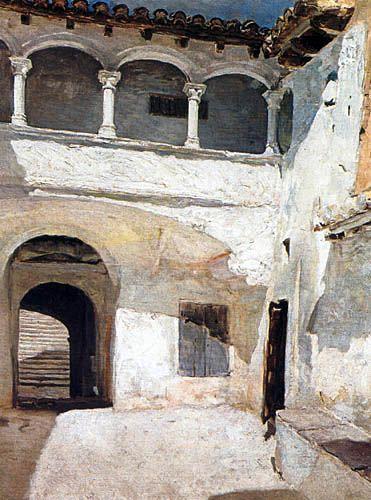 Joaquín Sorolla y Bastida - Patio de San Juan de la Cartuja de Porta Coeli