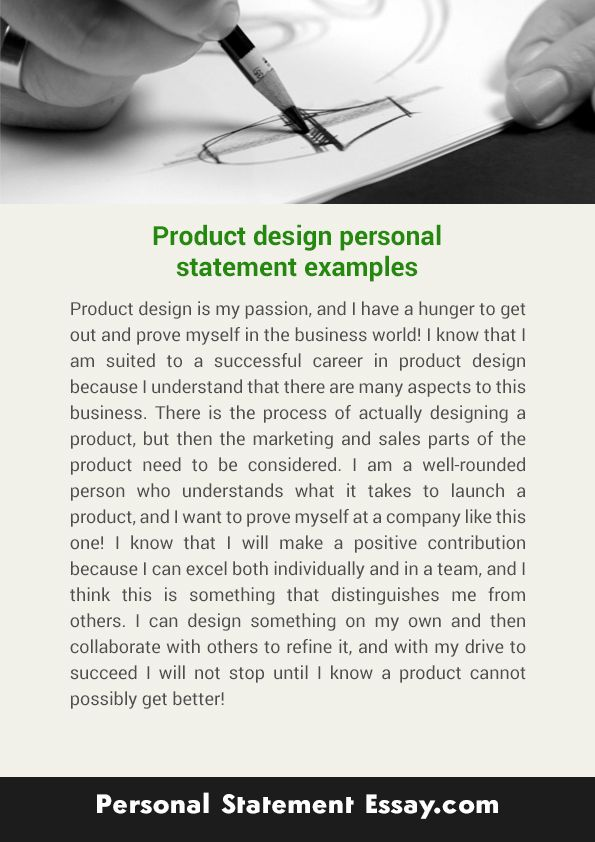 Pin By Product Design Personal Statement Examples On