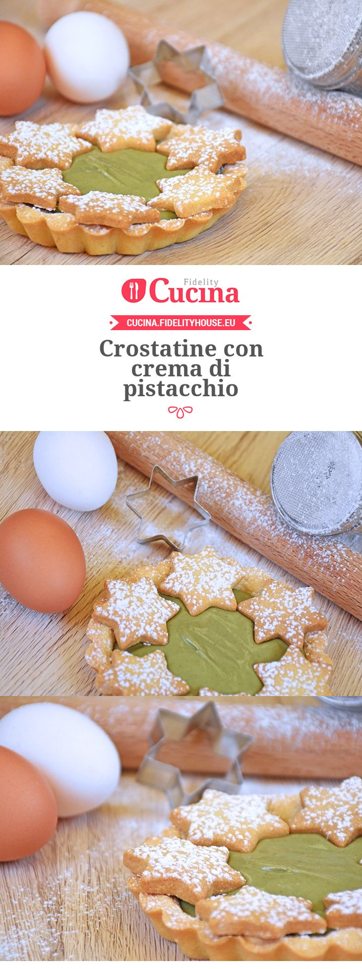 Crostatine con crema di pistacchio