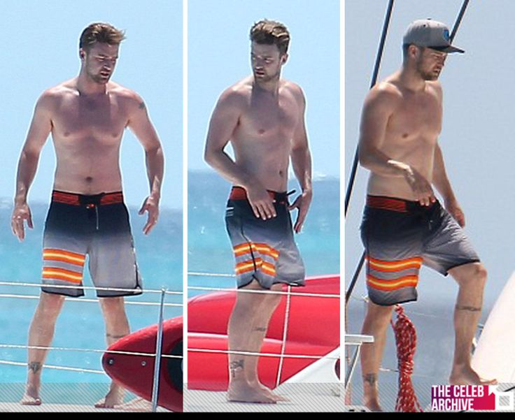 Justin Timberlake went shirtless while on a boat with ... Justin Timberlake
