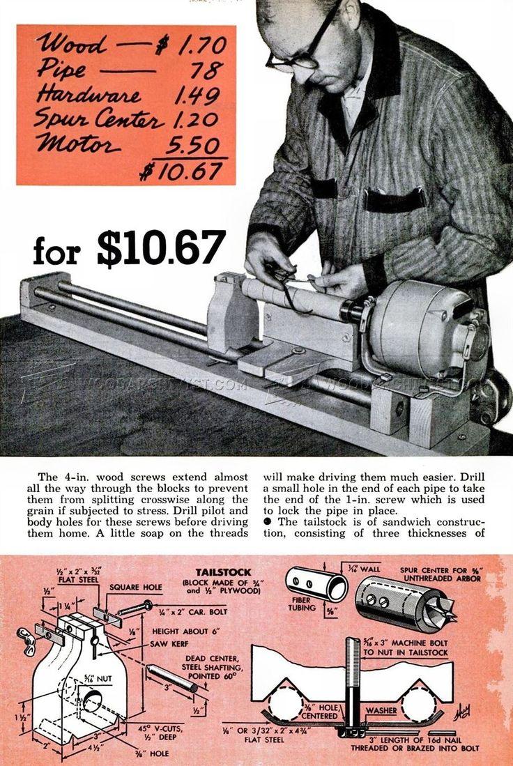 Homemade Wood Lathe - Lathe Tips, Jigs and Fixtures| WoodArchivist.com