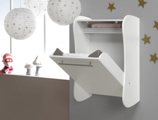 Table à langer murale Blanc