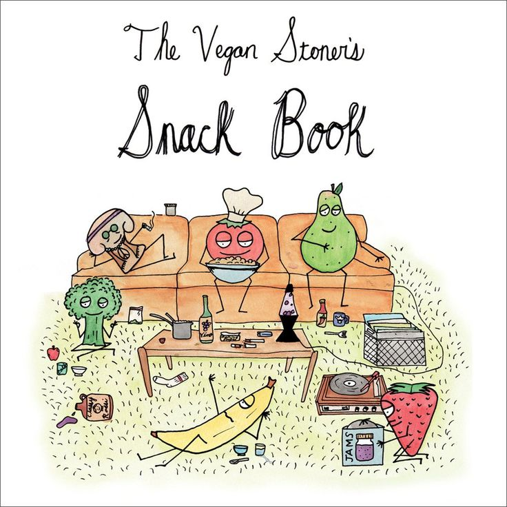 The Vegan Stoner's Snack Book 1st Edition Self-published on recycled, durable cover stock, this was printed in Portland, Oregon, under Sustaina...