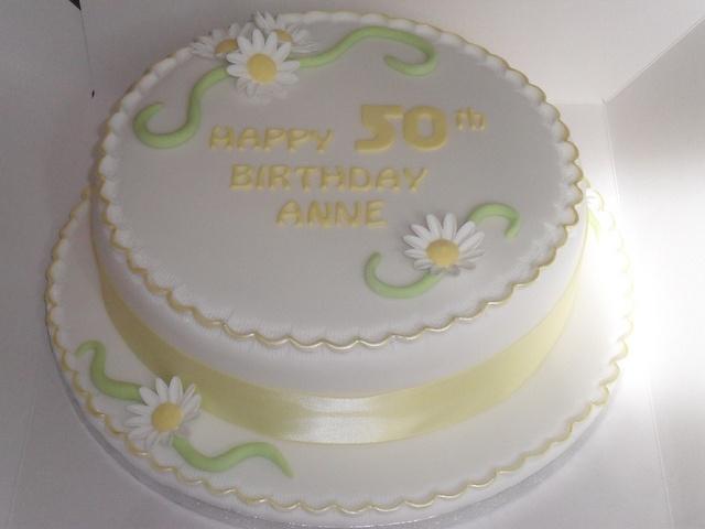 yellow green daisy flowers birthday cake by lizzies_cakes lizzies cupcakes lizziescakeshop, via Flickr