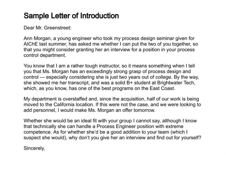 Sample letter of introduction,basic cover letter Cover Letter - letter of introduction