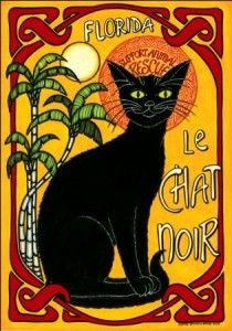 Carole Stevens Bibisi Le Chat Noir print