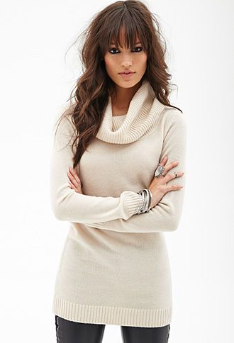 Ribbed Cowl Neck Sweater $16| FOREVER 21 - 2000059006