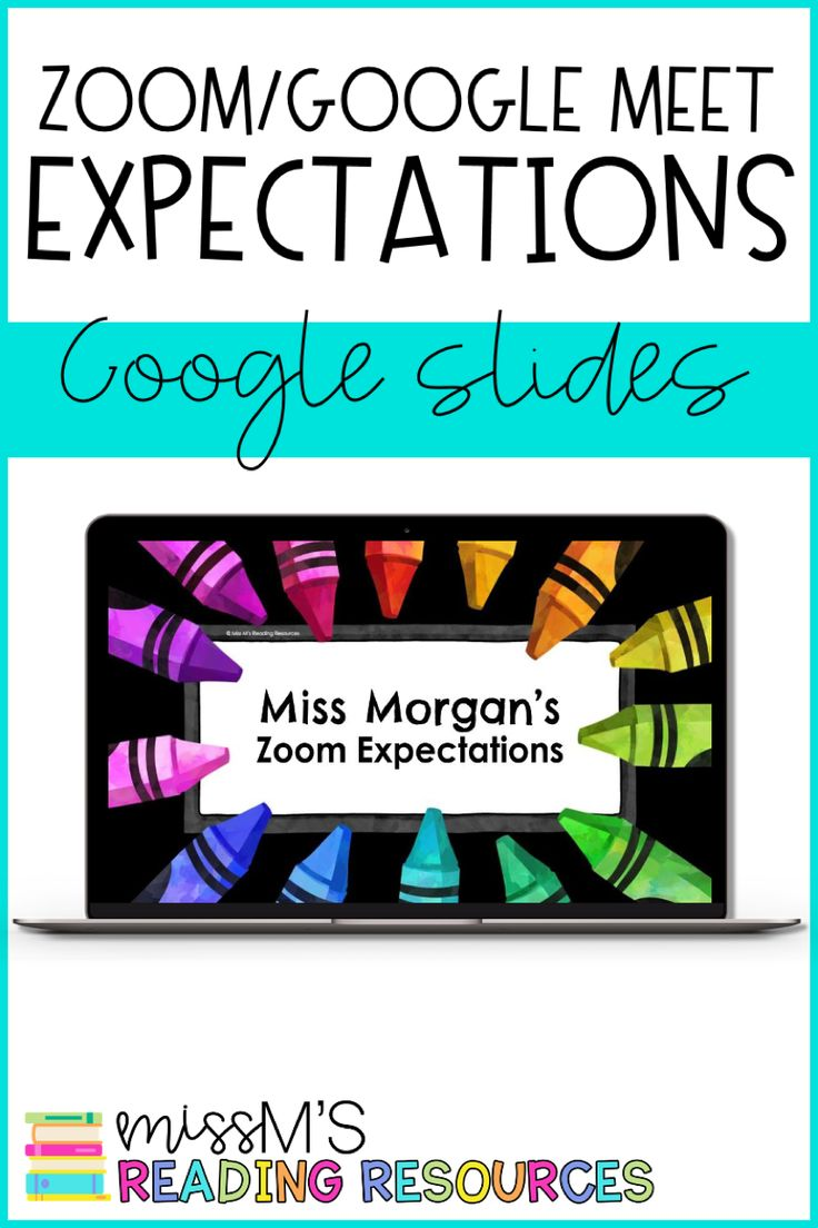 Zoom Expectations Google Slides Google Meet Expectations