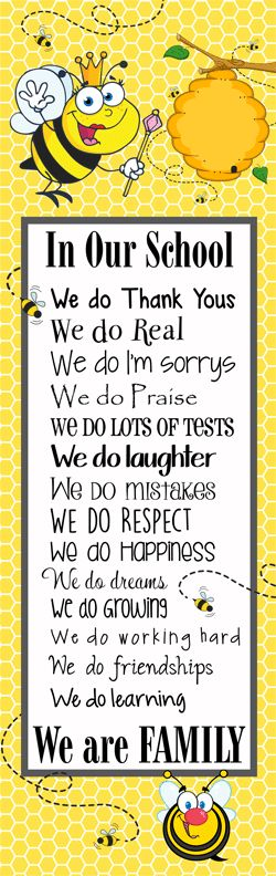 BEES BEE Theme Classroom Decor Character Education Banner X Large In
