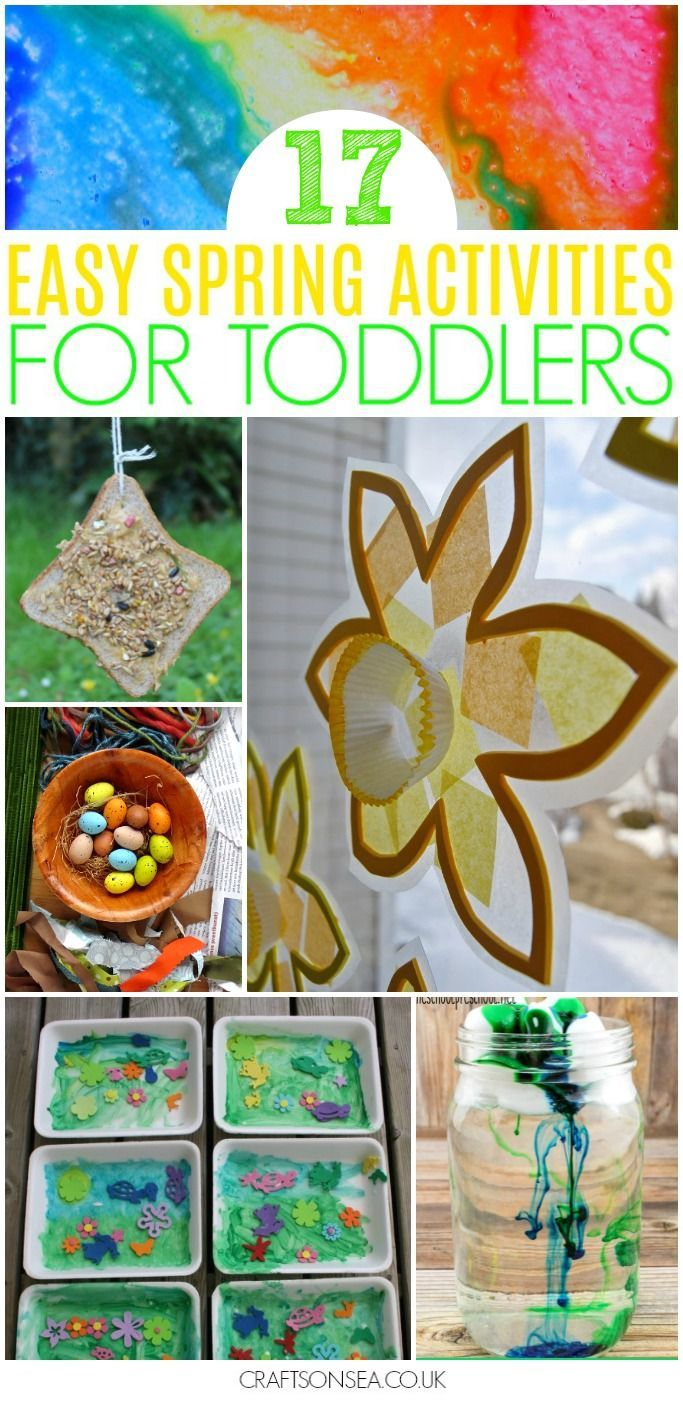 easy spring activities for toddlers to make