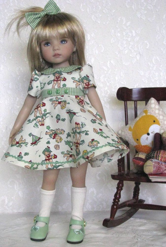 "Dianna Effner 13"" Little Darlings Bathing Beauties dress:"