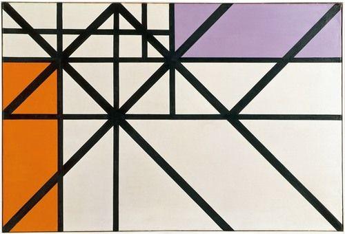 Max Bill, horizontal-vertikal-diagonal-rhythmus, 1943